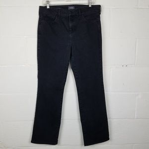 NYDJ Marilyn Lift Tuck Straight Leg Black Jeans